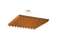Акустическая подвесная звукопоглощающая панель Ecosound Quadro Pyramid Orange. 50мм 1х1м Цвет оранжевый, фото 1
