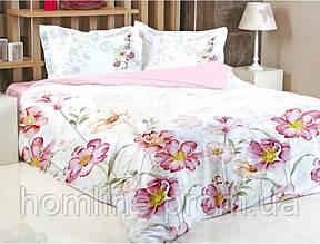 Постельное белье Irya сатин Digital Laverne розовое евро размер