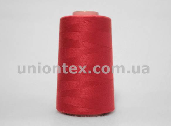 Нитка швейная 777 40/2 красная, фото 2