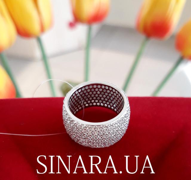 Серебряное кольцо с фианитом цирконием усыпка фото