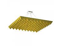 Акустическая подвесная звукопоглощающая панель Ecosound Quadro Pyramid Yellow 55 100х100 см Жёлтый, фото 1