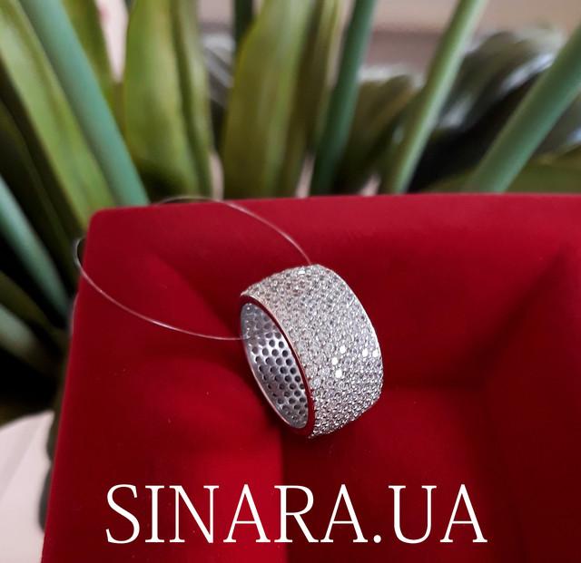 Серебряное кольцо с фианитом цирконием усыпка фото 1