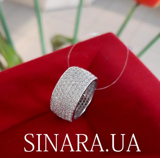 Серебряное кольцо с фианитом цирконием усыпка фото 3