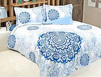 Постельное белье Irya сатин Digital Tile синее евро размер