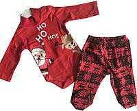 Костюм новогодний для мальчика боди и лосины олени (зима)