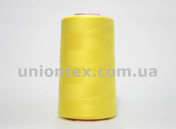Нитка швейная 777 40/2 желтая, фото 2