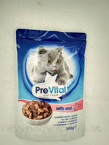 Паучи в соусе с телятиной PreVital классик, фото 2