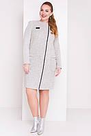 "Пальто ""Милтон Donna 3376"" Светло-серый"