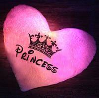 """Оригинальная плюшевая светящаяся подушка """"Принцесса"""" - подарок от любящего сердца"""