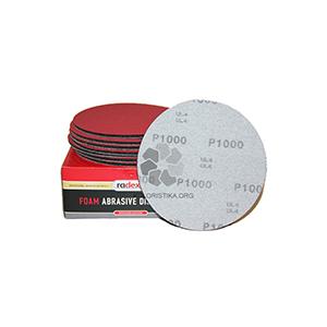 Ультратонкий абразивный шлифовальный круг P1000 на мягкой основе Radex D150 мм