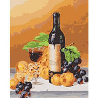 Аромат вина, Серия Букет, рисование по номерам, 40 х 50 см, Идейка