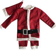 Новогодний комплект на мальчика кофта штаны и шапка (зима)