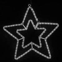 Светодиодная Звезда, цвет - теплый белый 50 см, уличная IP 44