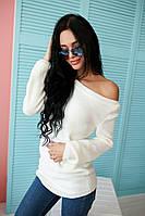 Черный и белый свитерок с открытыми плечиками код ак 33