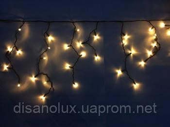 Гірлянда LED є icicle БАХРОМА ВУЛИЧНА ЧОРНИЙ ДРІТ 3,3 мм 3М*0,6 М БІЛИЙ (ТЕПЛИЙ) IP65