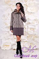 Красивое и теплое женское зимнее пальто (р. 44-56) арт. 1059 Тон 107