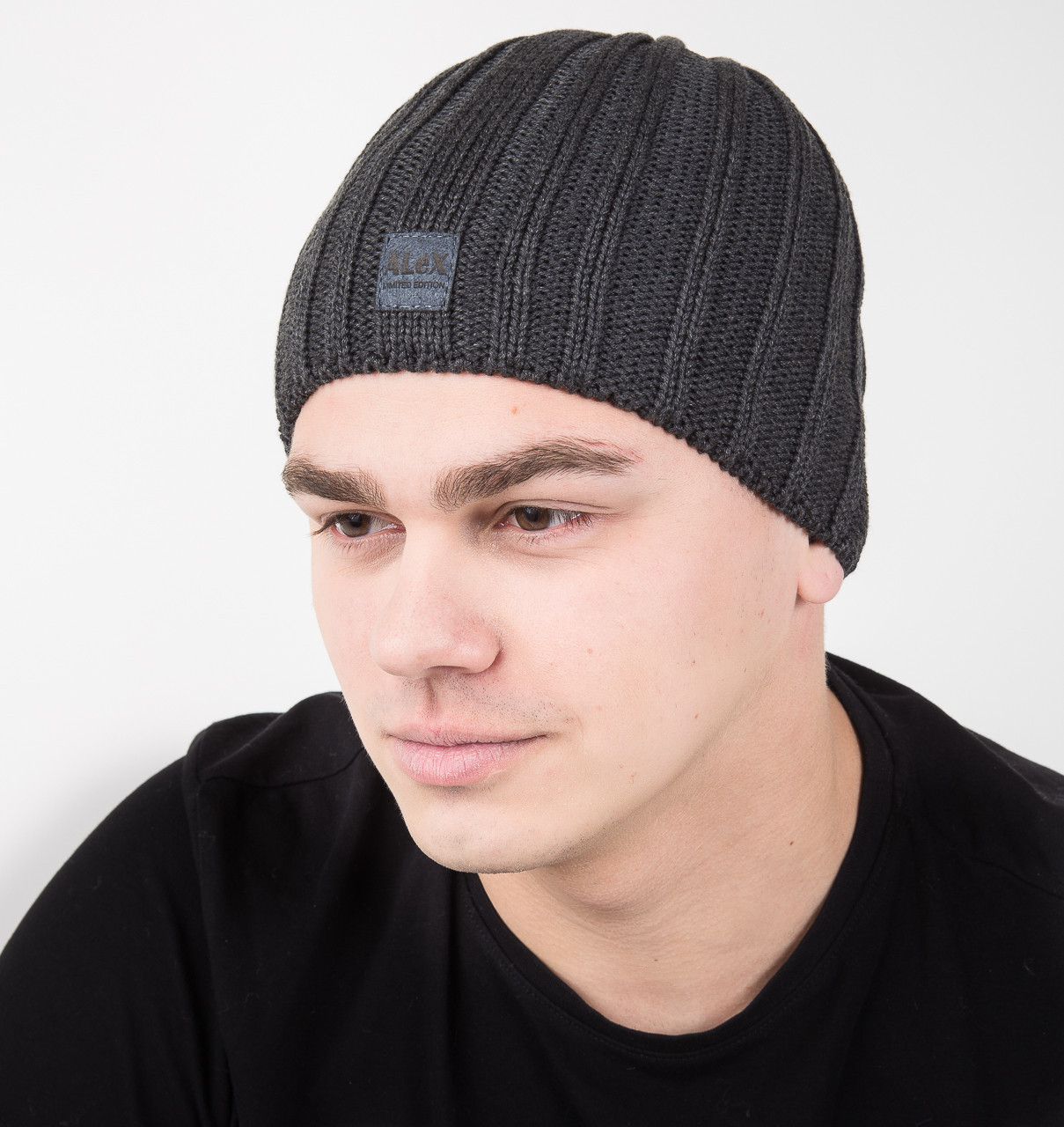 Зимняя мужская шапка на флисе - Арт AL17042