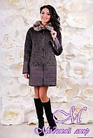 Женское теплое зимнее пальто (р. 44-56) арт. 1059 Тон 109