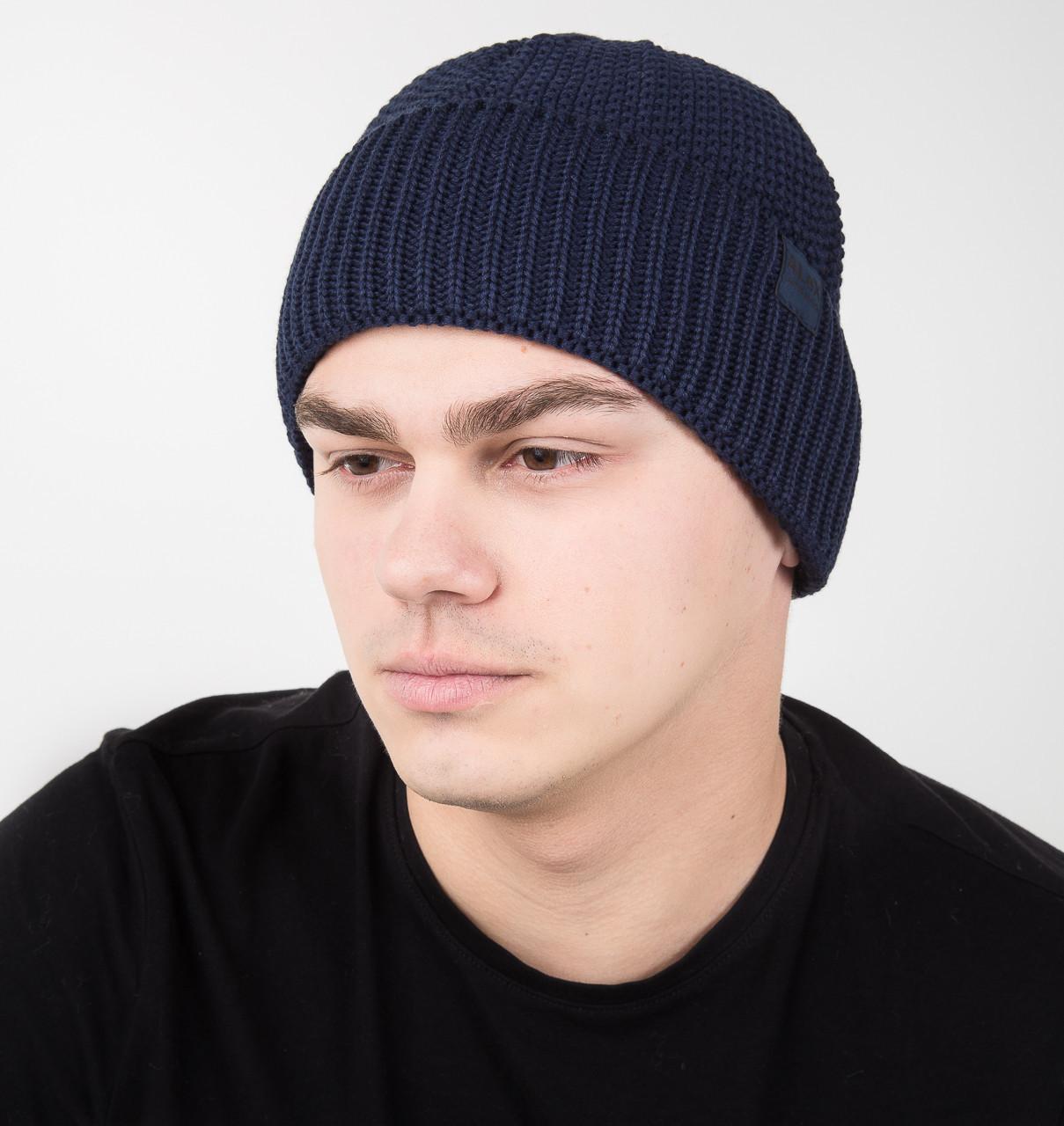 Мужская шапка из вязки на флисе - Арт ач