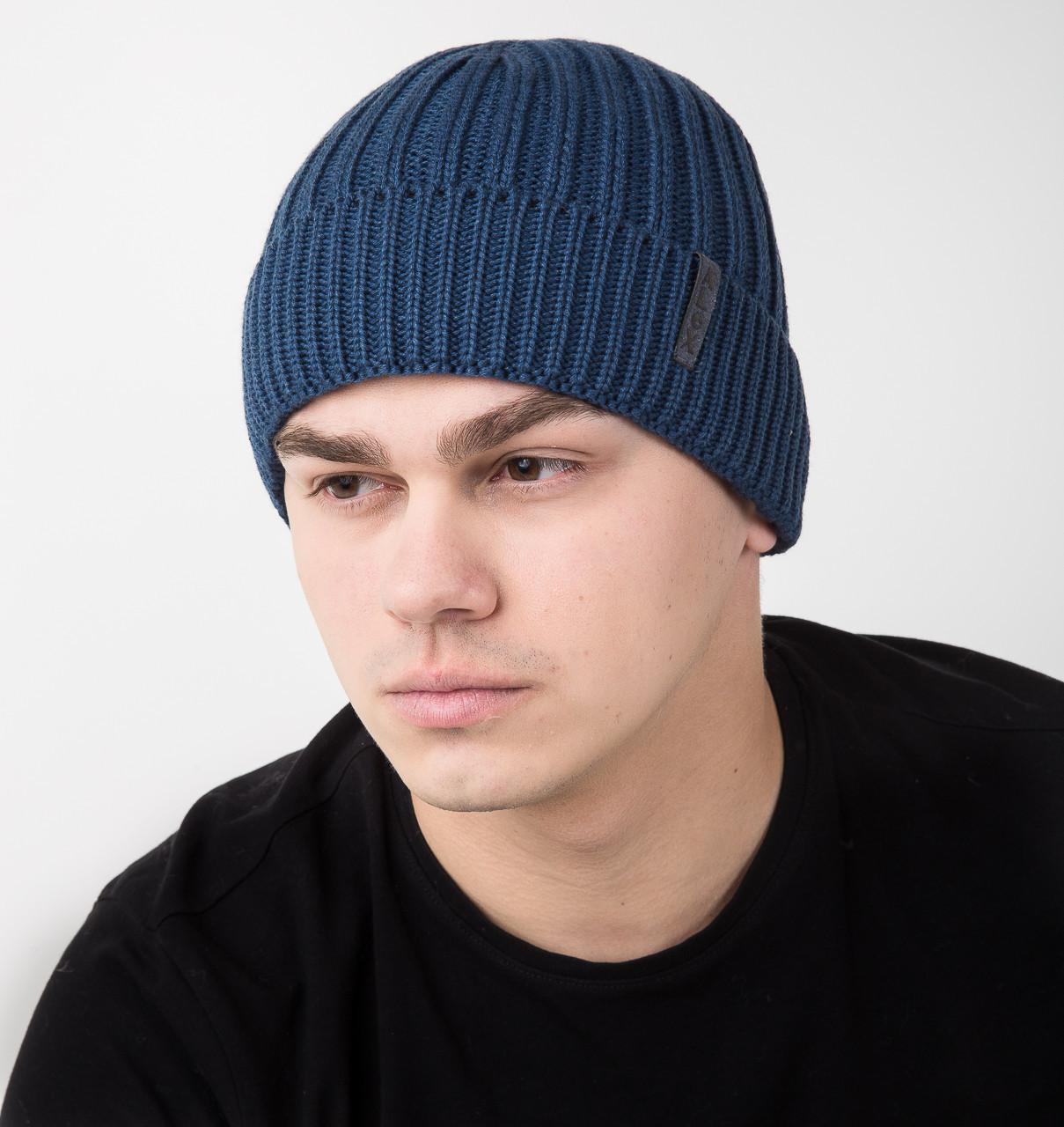 Зимняя мужская шапка на флисе - Арт AL17022