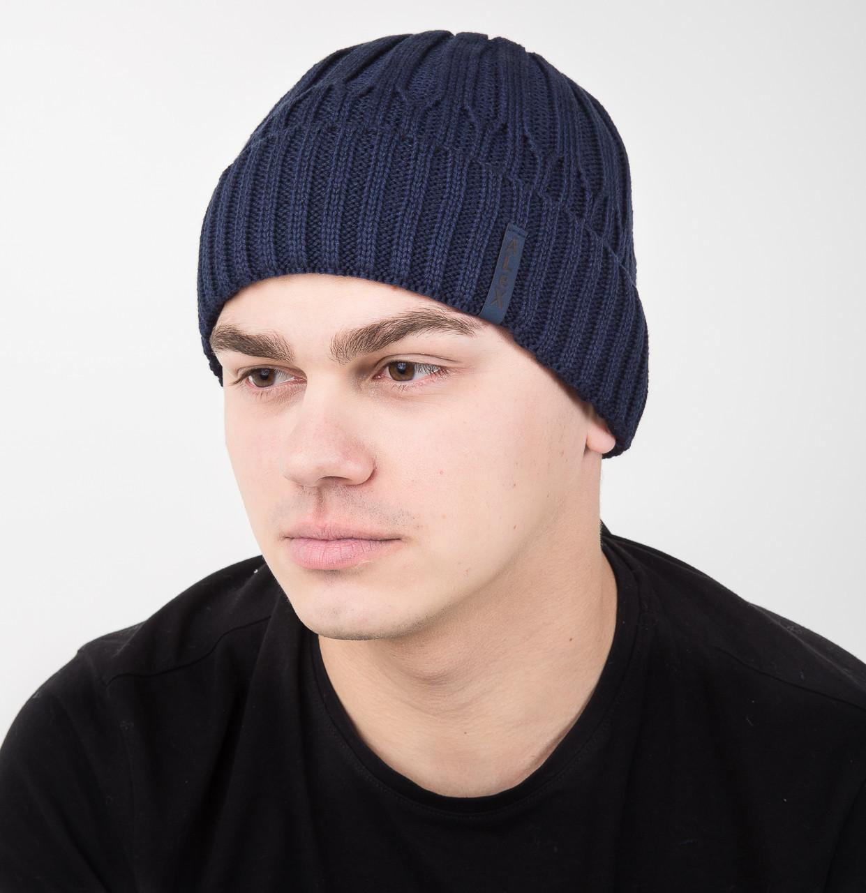 купить зимнюю вязаную шапку для мужчин арт Al17029 по лучшим ценам