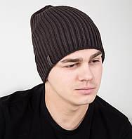 Вязаная двухсторонняя мужская шапка чулок - Арт AL17035