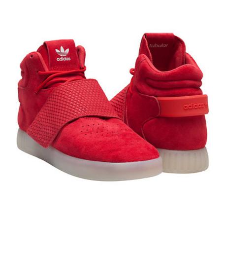 Кроссовки мужские Adidas TUBULAR invader strap RED
