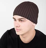 Мужская шапка на зиму на флисе - Арт AL17040