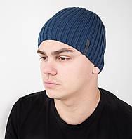 Стильная мужская шапка на флисе - Арт AL17040
