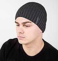 Зимняя вязаная мужская шапка ALEX - Арт AL17040
