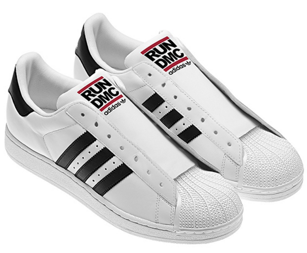 Кроссовки мужские Adidas SUPERSTAR 80s RUN DMC белый