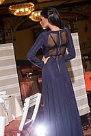 Платье в пол с сеточкой
