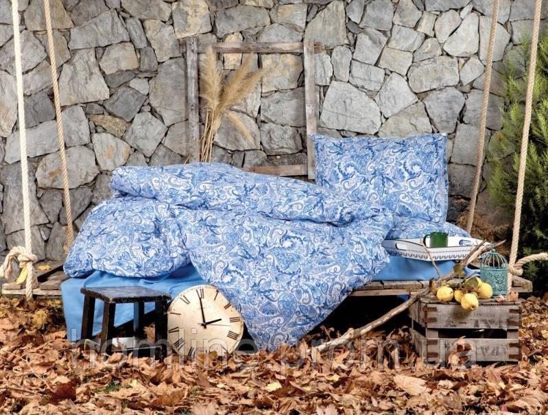 Постельное белье Irya Flanel Salamis синее евро размер
