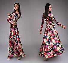 Атласное нарядное платье (4 расцветки), фото 2
