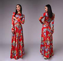 Атласное нарядное платье (4 расцветки), фото 3