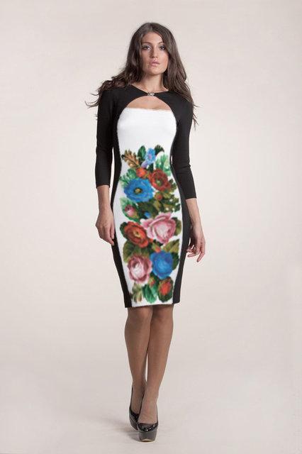 Вышитое женское платье (заготовка) СЖ-71