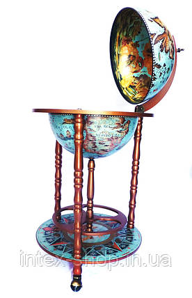 Глобус бар напольный 360 мм на 3х ножках 36001L-G, фото 2