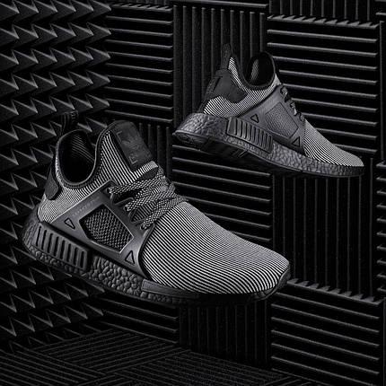 Кроссовки мужские Adidas NMD Runner PK полосатые черно/белые, фото 2
