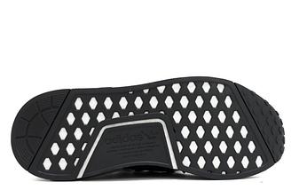 Кроссовки мужские Adidas NMD Runner PK полосатые черно/белые, фото 3