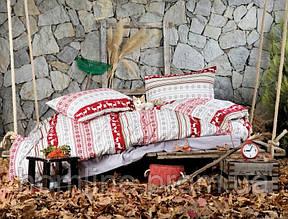 Постельное белье Irya Flanel Snow красное полуторный размер