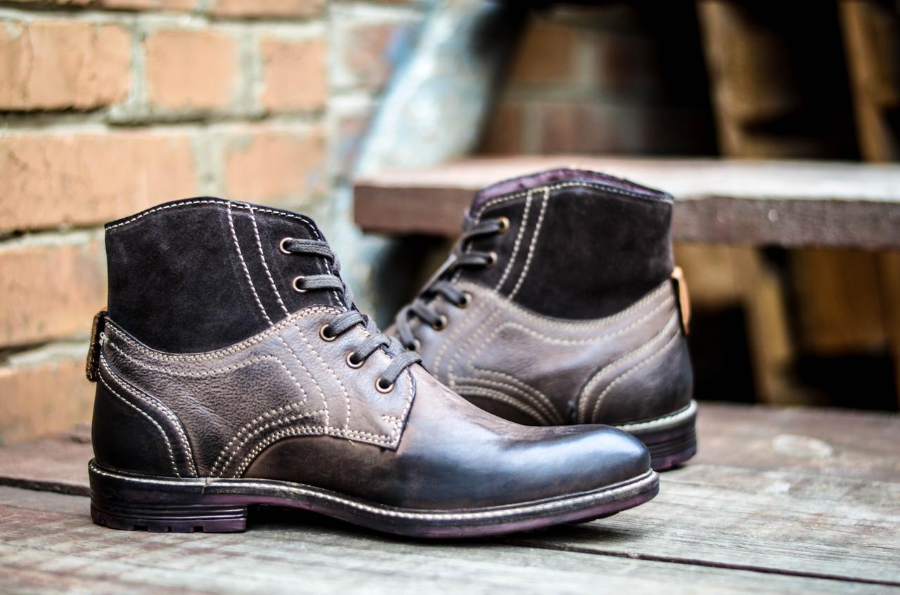 Ботинки мужские высокие кожаные CANGURO VACCHETTA A197-302 Оригинальные