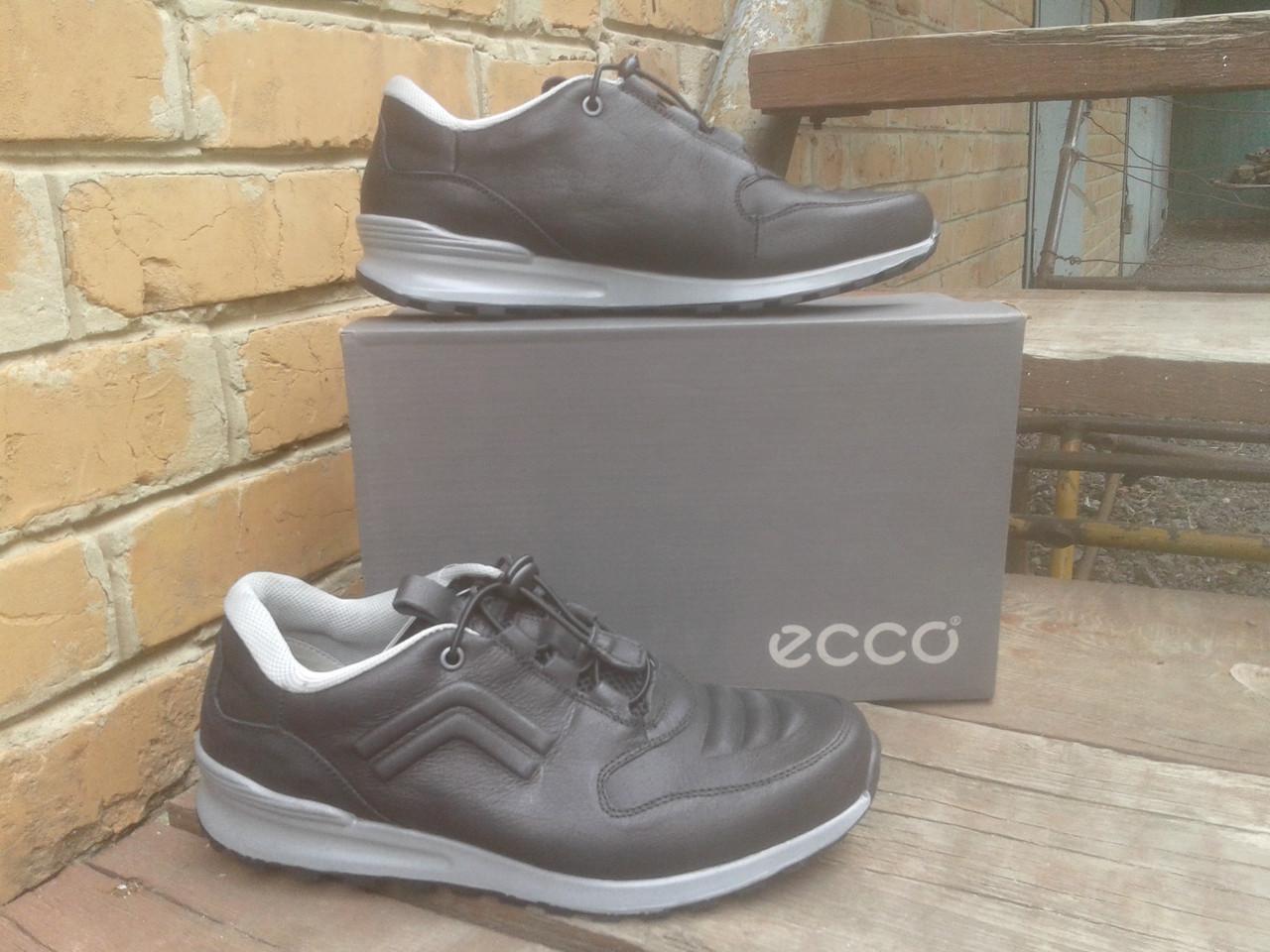 Кроссовки мужские ECCO 232493 черно серые (кожа)