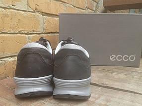 Кроссовки мужские ECCO 232493 черно серые (кожа), фото 2