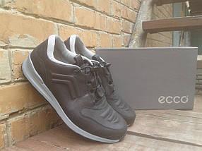 Кроссовки мужские ECCO 232493 черно серые (кожа), фото 3