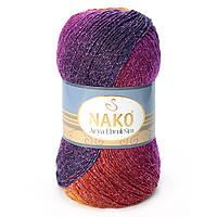 Nako Arya Ebruli Sim №86411 фиолетово-терракотовый