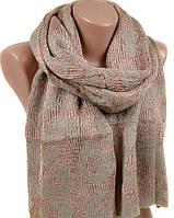Красивый женский шарф 50х180 M0430 brown Бежевый