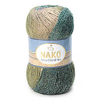 Nako Arya Ebruli Sim №86420 бежево-фиолетово-зеленый
