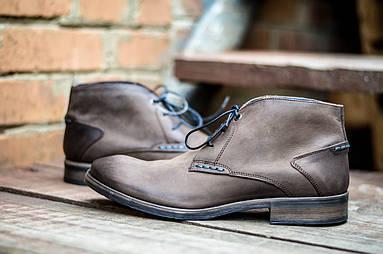 Мужские ботинки оригинальные CANGURO NUBUK A025-318 (натур. кожа)
