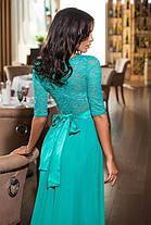 Нежное гипюровое платье  в пол , фото 2