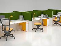 Акустическая ширма для офисных столов Ecosound Quadro Screen green 100х50 см 50мм цвет зеленый